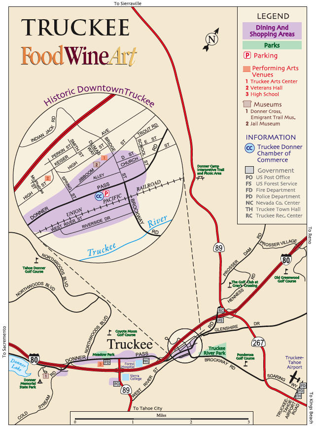 Truckee Map