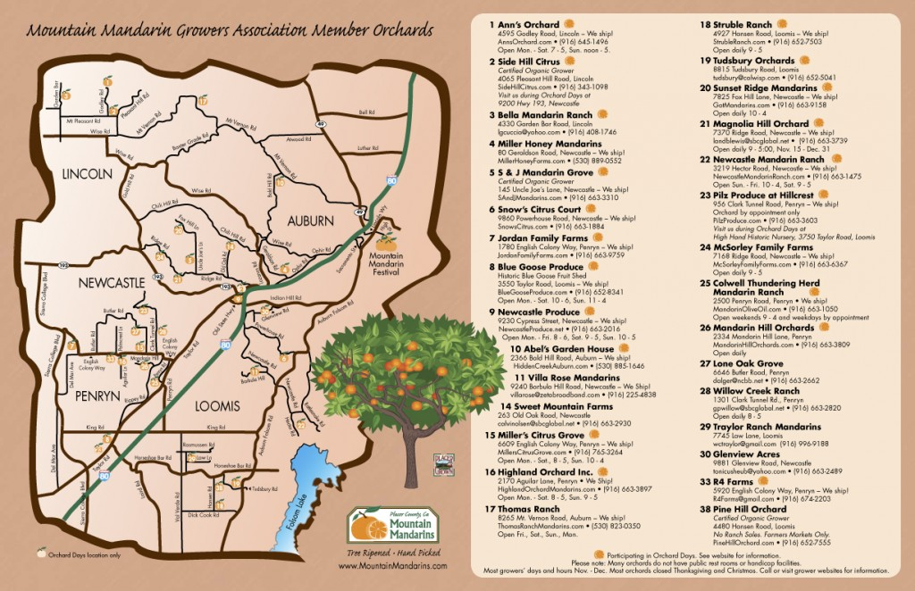 Mountain Mandarin Growers Map 2013