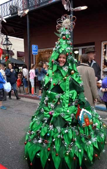 A walking Christmas tree in Nevada City that rivals Stanford's ...