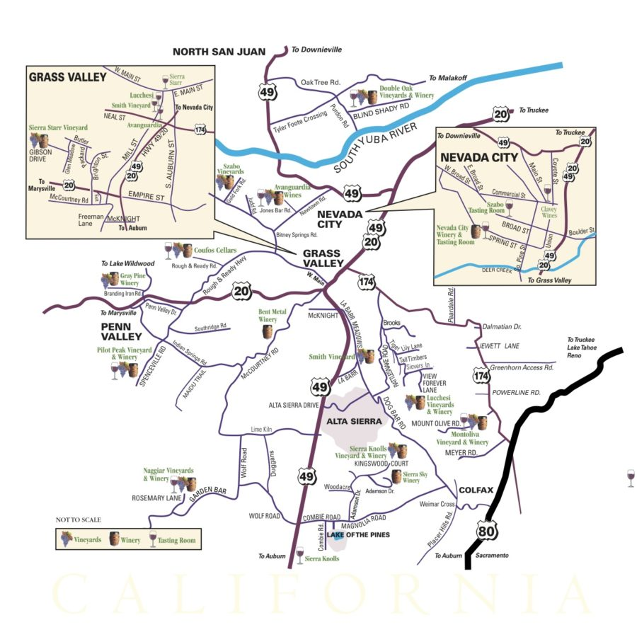Nevada County Wineries Map : Sierra FoodWineArt: A lifestyle magazine