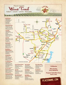 Placer County Wine Trail Map 2013 : Sierra FoodWineArt: A lifestyle ...