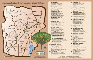 Mountain Mandarin Growers Map 2013